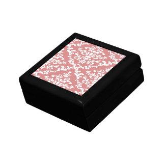 Pink Bold Damask Emporiomoffa Keepsake Box