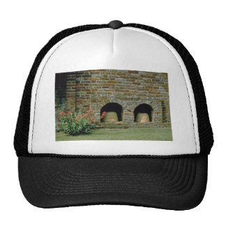 Pink Boles let into the walls for Bee Skips Packw Hat