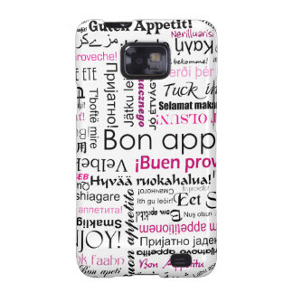Pink Bon appetit in many languages Samsung Galaxy S2 Cover