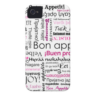 Pink Bon appetit in many languages iPhone 4 Cover
