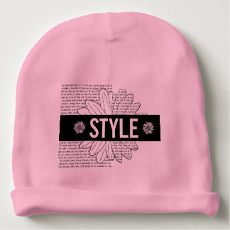 """Pink bonnet of birth """"Style """" Baby Beanie"""
