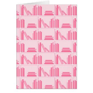 Pink Books on Shelf Card
