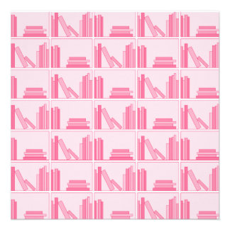 Pink Books on Shelf Announcement