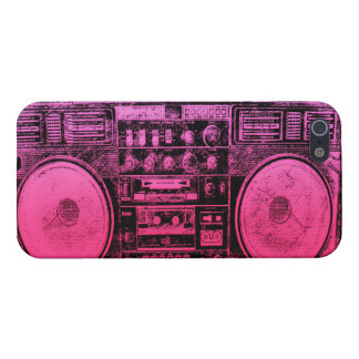 Pink boombox iPhone 5/5S cases