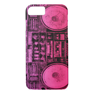 Pink boombox iPhone 7 case
