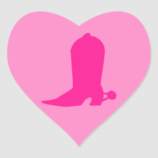 Pink Boot for Cowgirl Heart Sticker