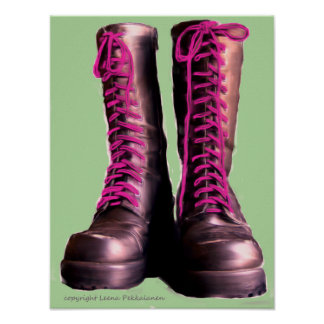 Pink Boots Poster