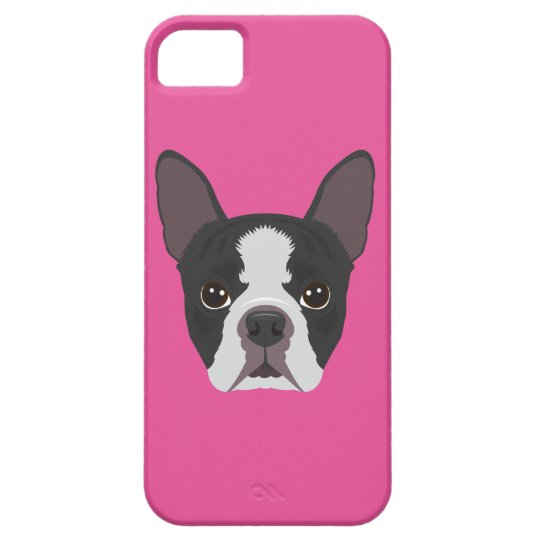 Pink Boston Terrier iPhone 5 Cover