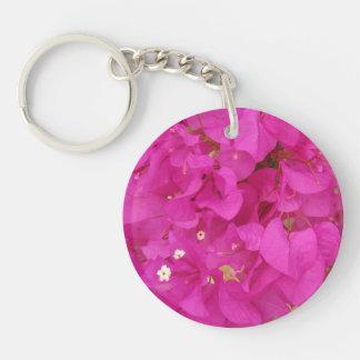 Pink Bougainvillea Flower (Greece) Key Ring