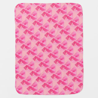 Pink Bougainvillea Leaves and Flower Close-up Baby Blanket
