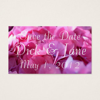 pink bounty, Save the Date Business Card