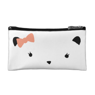 Pink Bow Bear Cosmetic Bags