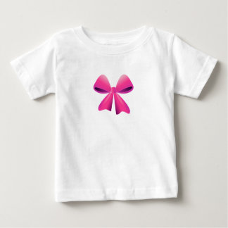Pink Bow & Black Bow Design Baby T-Shirt