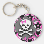 Pink Bow Key Chains