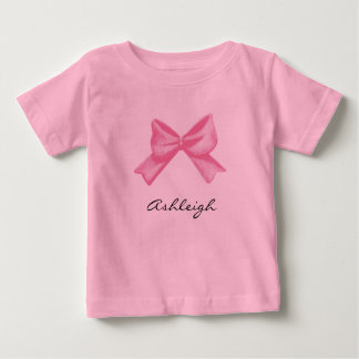 Pink Bow Name T Shirt