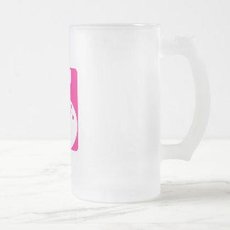 Pink Bowling Frosted Glass Mug