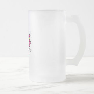 Pink Bowling Shoes Frosted Glass Mug