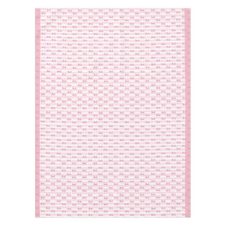 Pink Bows Cloth Tablecloth