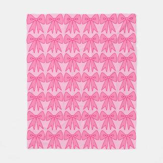 Pink Bows Girl's Women's Bedroom Blanket Gift