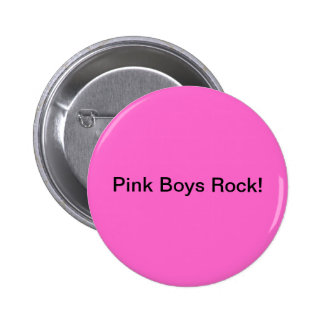 Pink Boys Rock 6 Cm Round Badge