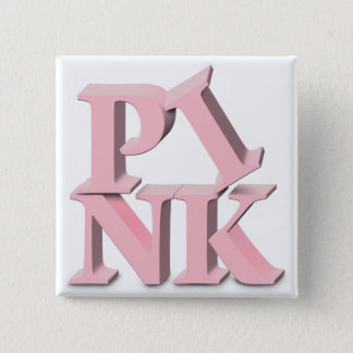 PINK Breast Cancer Awareness 15 Cm Square Badge