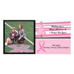 Pink Breast Cancer Awareness Photo Christmas Card Custom Photo Card