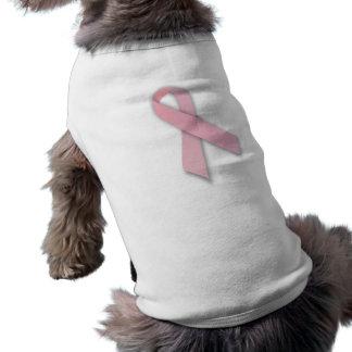 Pink Breast Cancer Awareness Ribbon Dog T-shirt