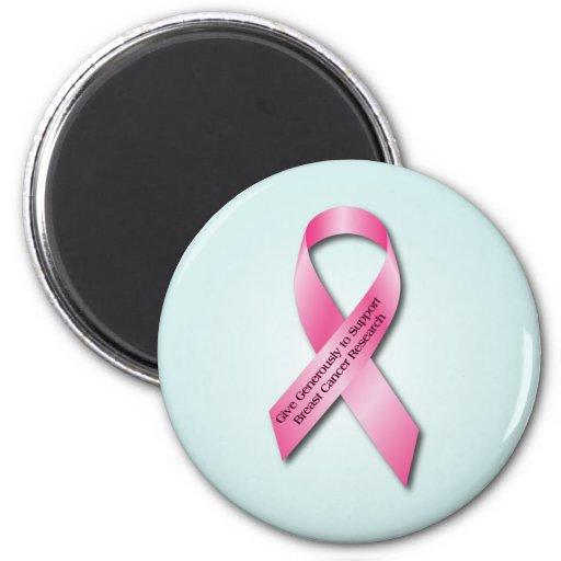 Pink Breast Cancer Awareness Ribbon Fridge Magnet