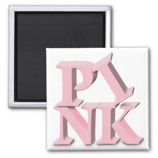 PINK Breast Cancer Awareness Square Magnet