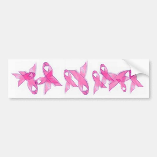 Pink Breast Cancer Ribbons Bumper Sticker