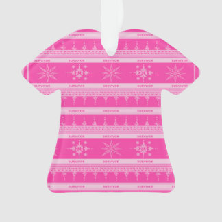Pink Breast Cancer Survivor Ornament