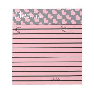 Pink Brick Heart Small Message Pad