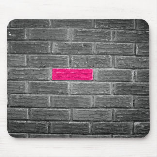 Pink Brick In A Black & White Wall Mouse Mat