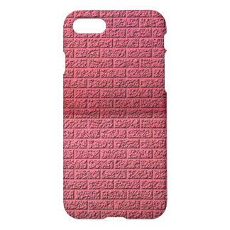 Pink brick wall pattern iPhone 8/7 case