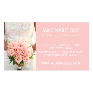 Pink Bridal Roses Pack Of Standard Business Cards