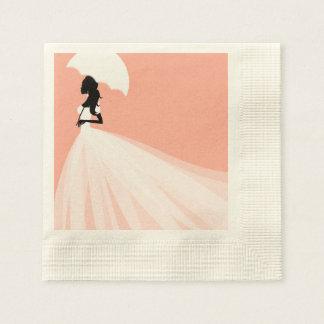 Pink Bridal Shower Disposable Napkins