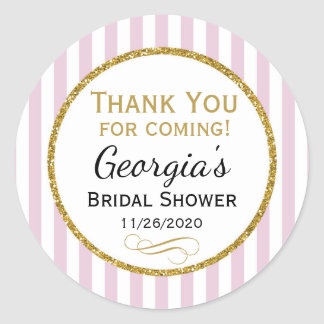 Pink Bridal Shower Thank You Favor Tags