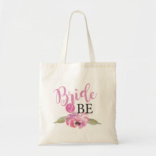 Pink Bride 2 Be to Floral Tote Bag