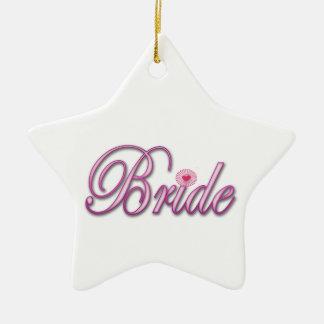 pink bride bachelorette wedding bridal shower ceramic star decoration