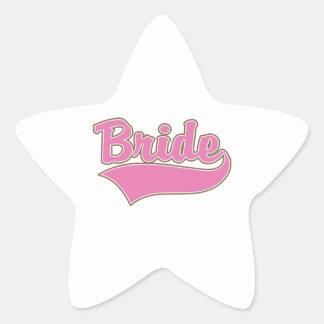 Pink Bride Design with Swash Tail Sticker