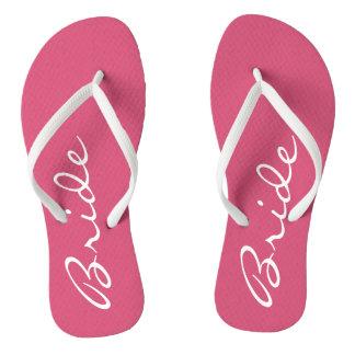 Pink Bride Flip Flops
