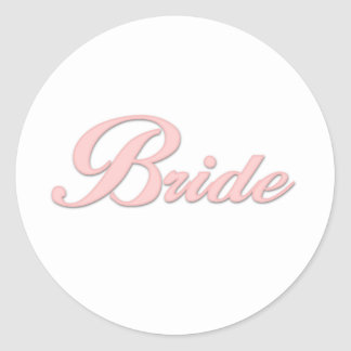 Pink Bride    Round Sticker