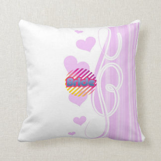 pink bride to be bachelorette wedding bridal party cushion
