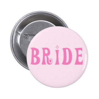 Pink Bride Tshirts and Gifts Button