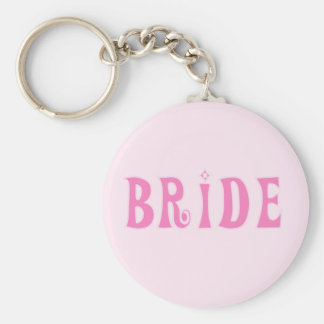 Pink Bride Tshirts and Gifts Keychains