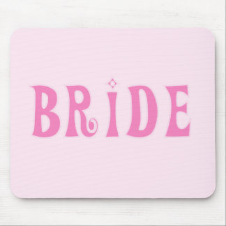 Pink Bride Tshirts and Gifts Mousepads