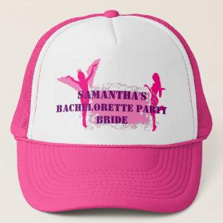 Pink brides bachelorette party trucker hat
