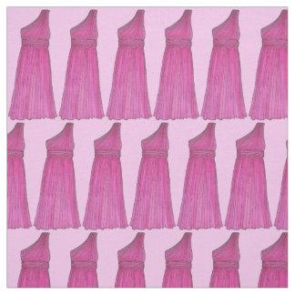 Pink Bridesmaid Dress Wedding Bridal Party Fabric