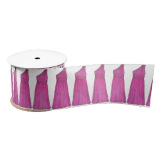 Pink Bridesmaid Dress Wedding Bridal Party Ribbon Satin Ribbon