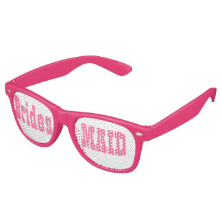 Pink Bridesmaid Swag Party Glasses